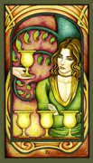 Four of Cups Tarot card in Fenestra deck