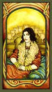 Nine of Cups Tarot card in Fenestra deck