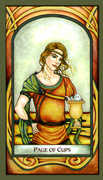 Page of Cups Tarot card in Fenestra deck