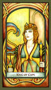 King of Cups Tarot card in Fenestra Tarot deck