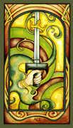 Ace of Swords Tarot card in Fenestra deck