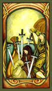 Six of Swords Tarot card in Fenestra Tarot deck