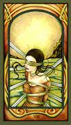 Eight of Swords Tarot card in Fenestra Tarot deck