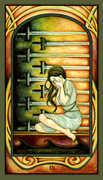 Nine of Swords Tarot card in Fenestra deck