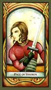 Page of Swords Tarot card in Fenestra Tarot deck