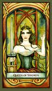 Queen of Swords Tarot card in Fenestra Tarot deck