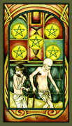 Five of Pentacles Tarot card in Fenestra deck