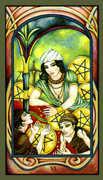 Six of Pentacles Tarot card in Fenestra Tarot deck