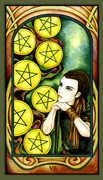 Seven of Pentacles Tarot card in Fenestra Tarot deck
