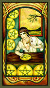 Eight of Pentacles Tarot card in Fenestra deck