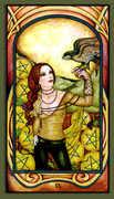 Nine of Pentacles Tarot card in Fenestra Tarot deck