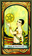 Page of Pentacles Tarot card in Fenestra deck
