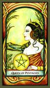 Queen of Pentacles Tarot card in Fenestra Tarot deck