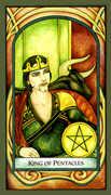 King of Pentacles Tarot card in Fenestra deck