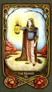The Hermit Tarot card in Fenestra deck