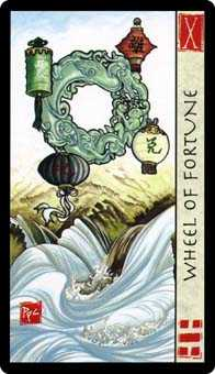 The Wheel of Fortune Tarot Card - Feng Shui Tarot Deck