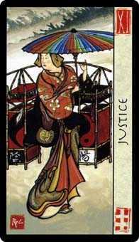 Justice Tarot Card - Feng Shui Tarot Deck