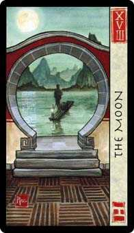 The Moon Tarot Card - Feng Shui Tarot Deck