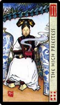 The High Priestess Tarot Card - Feng Shui Tarot Deck