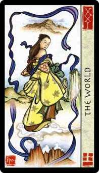 The World Tarot Card - Feng Shui Tarot Deck