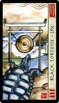 Six of Clubs Tarot Card - Feng Shui Tarot Deck