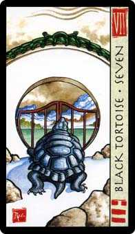 Seven of Rods Tarot Card - Feng Shui Tarot Deck