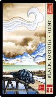 Eight of Rods Tarot Card - Feng Shui Tarot Deck