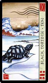 Ten of Batons Tarot Card - Feng Shui Tarot Deck