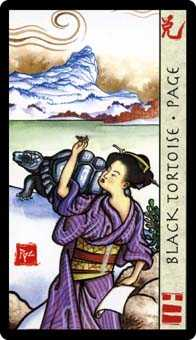 Page of Rods Tarot Card - Feng Shui Tarot Deck