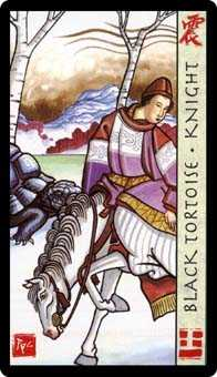 Knight of Rods Tarot Card - Feng Shui Tarot Deck