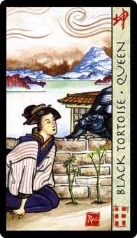 Queen of Rods Tarot Card - Feng Shui Tarot Deck