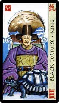 King of Staves Tarot Card - Feng Shui Tarot Deck