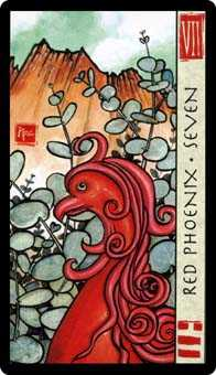 Seven of Hearts Tarot Card - Feng Shui Tarot Deck
