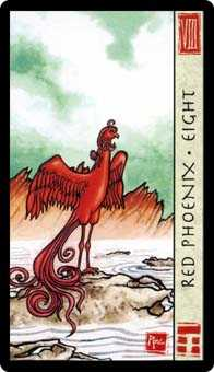 Eight of Ghosts Tarot Card - Feng Shui Tarot Deck