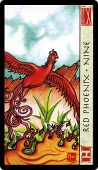 Nine of Ghosts Tarot Card - Feng Shui Tarot Deck
