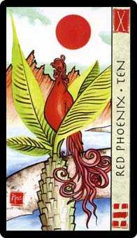 Ten of Hearts Tarot Card - Feng Shui Tarot Deck