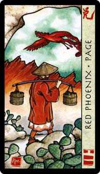Page of Hearts Tarot Card - Feng Shui Tarot Deck