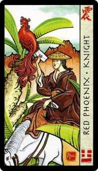 Knight of Ghosts Tarot Card - Feng Shui Tarot Deck