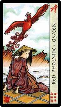Queen of Ghosts Tarot Card - Feng Shui Tarot Deck