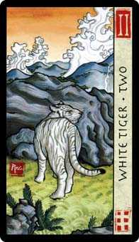Two of Wind Tarot Card - Feng Shui Tarot Deck