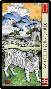 Three of Wind Tarot Card - Feng Shui Tarot Deck