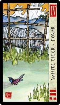 Four of Swords Tarot Card - Feng Shui Tarot Deck