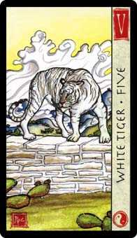 Five of Wind Tarot Card - Feng Shui Tarot Deck