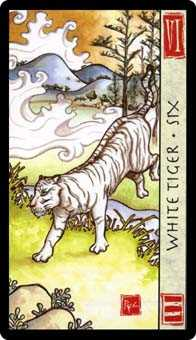 Six of Swords Tarot Card - Feng Shui Tarot Deck