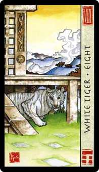 Eight of Rainbows Tarot Card - Feng Shui Tarot Deck