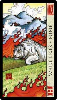 Nine of Arrows Tarot Card - Feng Shui Tarot Deck
