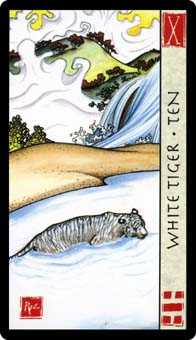 Ten of Bats Tarot Card - Feng Shui Tarot Deck