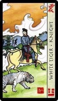 Knight of Spades Tarot Card - Feng Shui Tarot Deck
