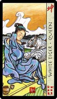 Queen of Spades Tarot Card - Feng Shui Tarot Deck