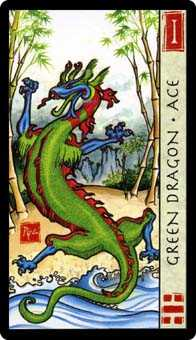 Ace of Discs Tarot Card - Feng Shui Tarot Deck